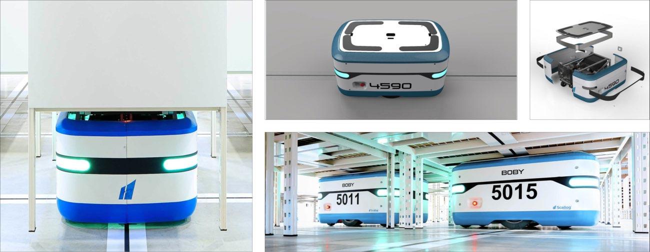 Scallog, Robot mobile 2ème génération, Axena Design équipements industriels