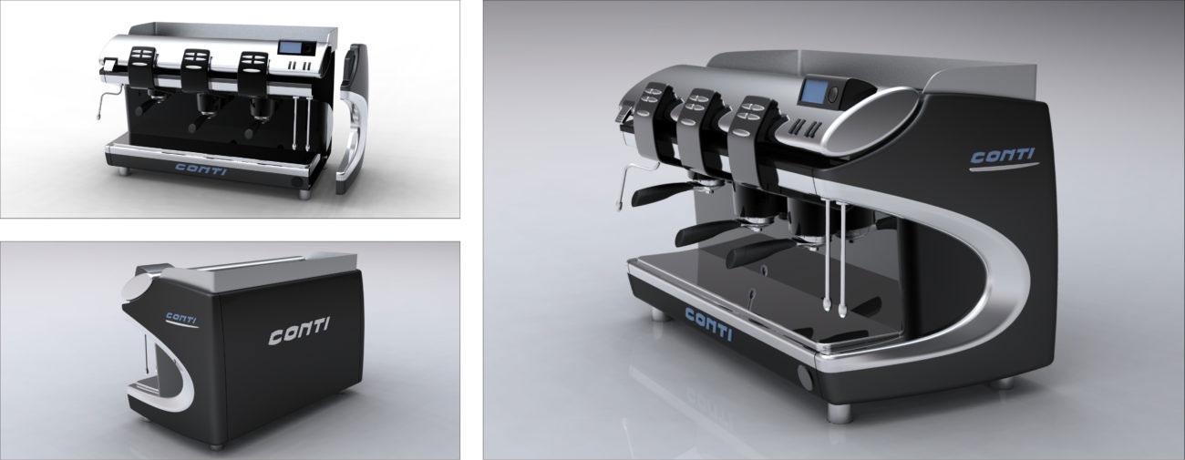 Conti, Gamme de machines à café professionnelles - Axena design Produits professionnels