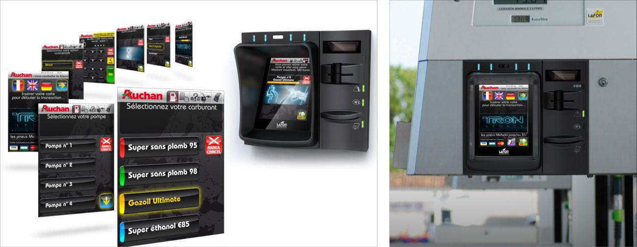 Lafon Technologies, Façades de distributeur automatique de carburant et IHM