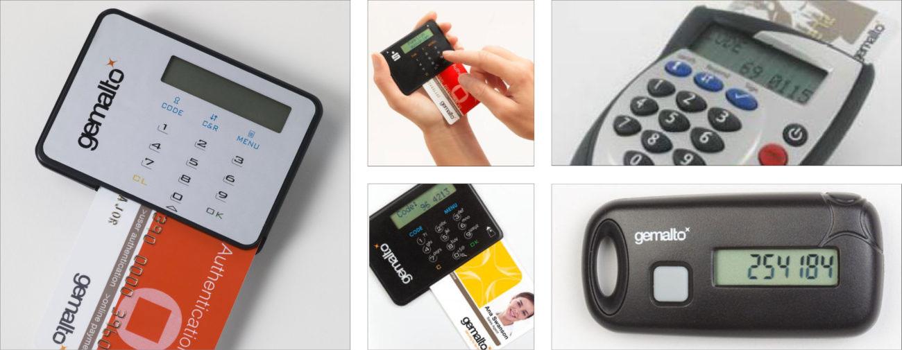Gemalto, Terminaux bancaires, Générateurs de codes confidentiels, Clés USB ultra-sécurisées, Moyens d'identification et de contrôle d'accès - Axena Design.