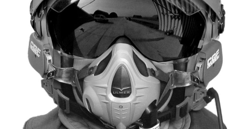 Ulmer, Masque à oxygène des pilotes de chasse sur RAFAL - Axena Design Sécurité - Défense