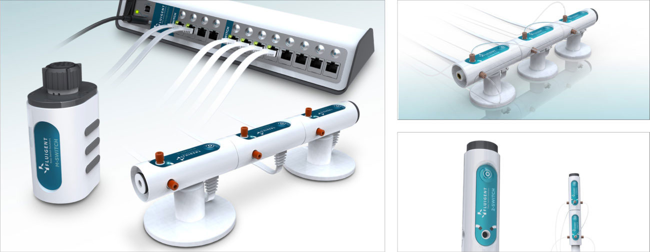 Fluigent, Gammes micro fluidiques, Axena Design Univers médical