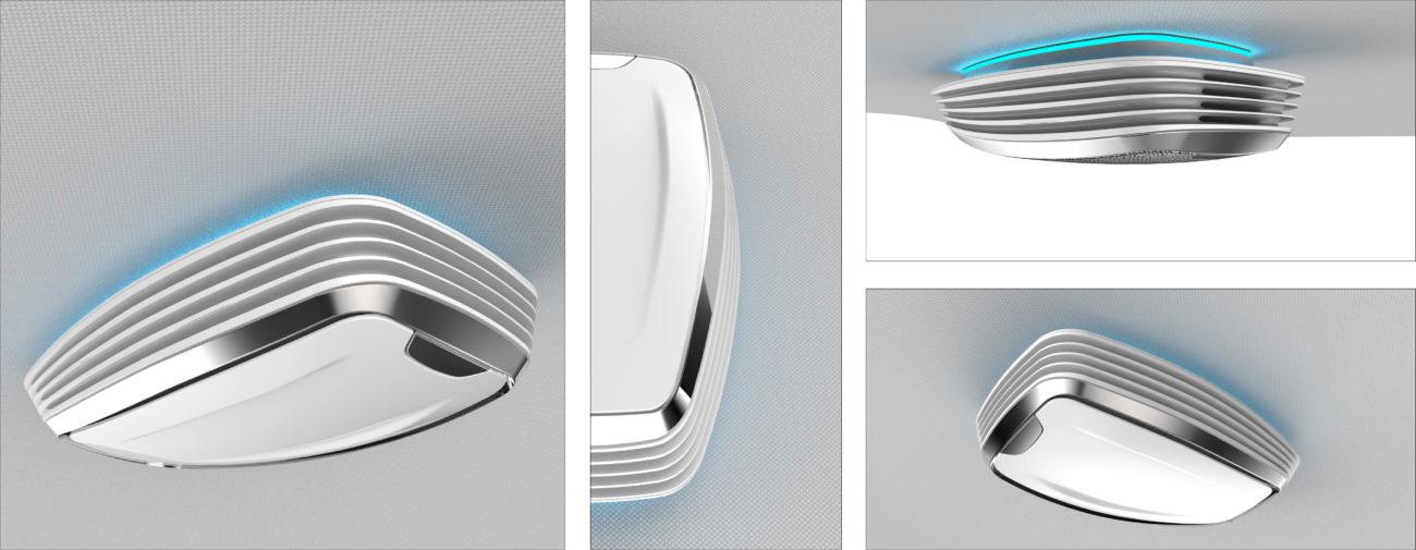 Valeo, Purificateurs d'air connectés pour habitacle automobile et pistes créatives IHM - Axena Design Objets connectés et design digital
