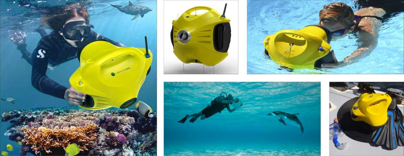 Virtualdive, Console subaquatique interactive Dolphyn, Axena design Objets connectés