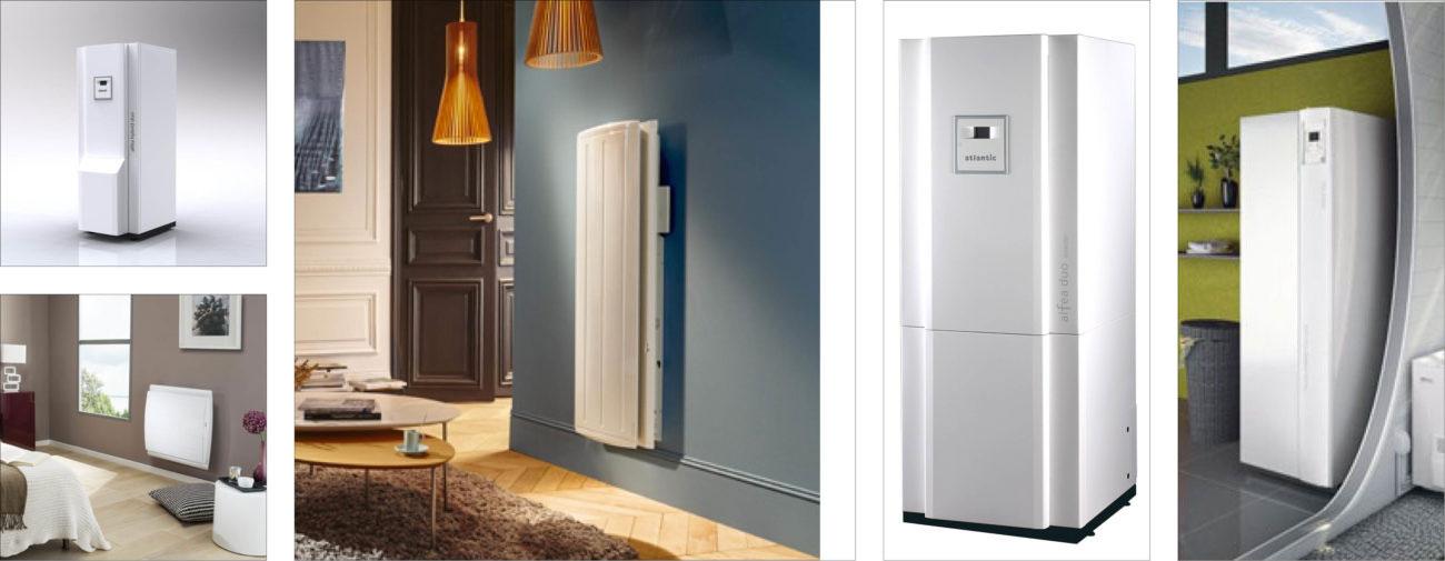 Atlantic, Gamme de radiateurs électriques, Pompes à chaleur - Axena Design Produits grand public