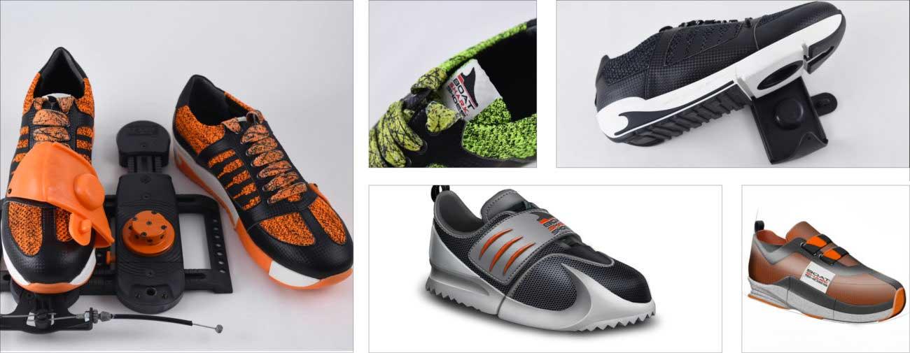 Boat Shark Shoes, Barre de pieds automatique et sécurisée pour l'aviron - Axena Design Produits grand public