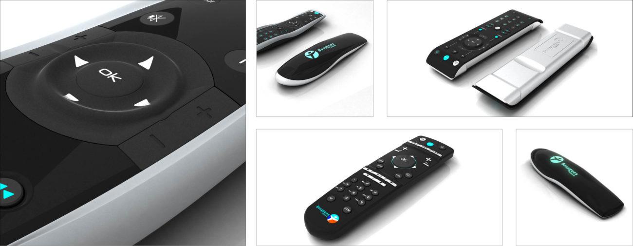 Bouygues Télécom, Gamme de Box, Setup Box et télécommandes - Axena Design Produits grand public