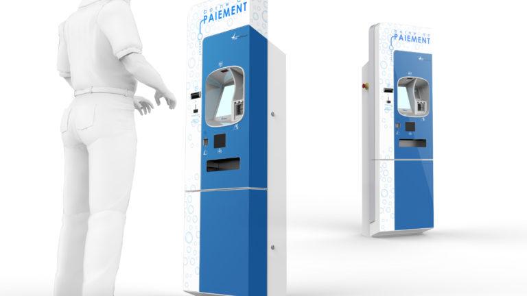 Cap Monétique, EAS, Borne de paiement pour portique de lavage automatique, Axena Design Produits grand public