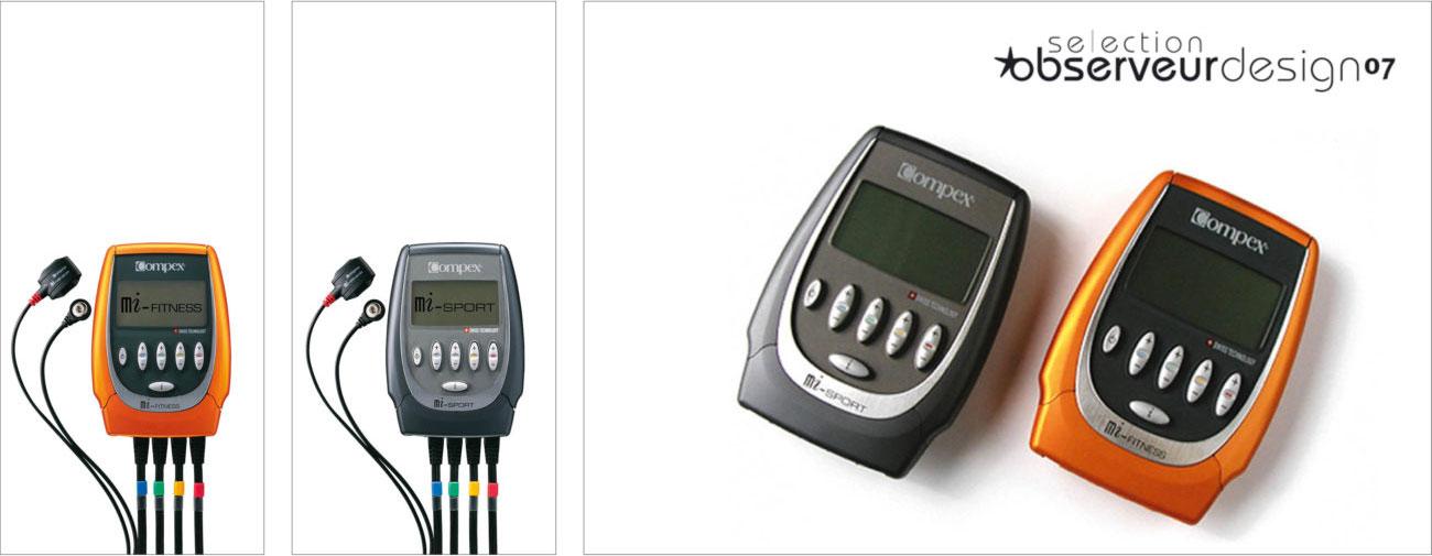 Compex, Gamme de terminaux de stimulation musculaire et ceinture de stimulation, Axena Design Produits grand public