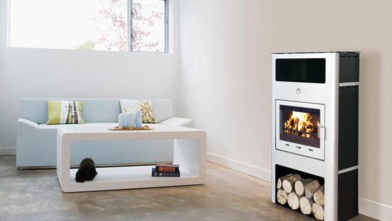 Deville, Gamme de poêles à bois, Habillages de cheminées, Gamme de poêles à granulés - Axena Design Produits grand public