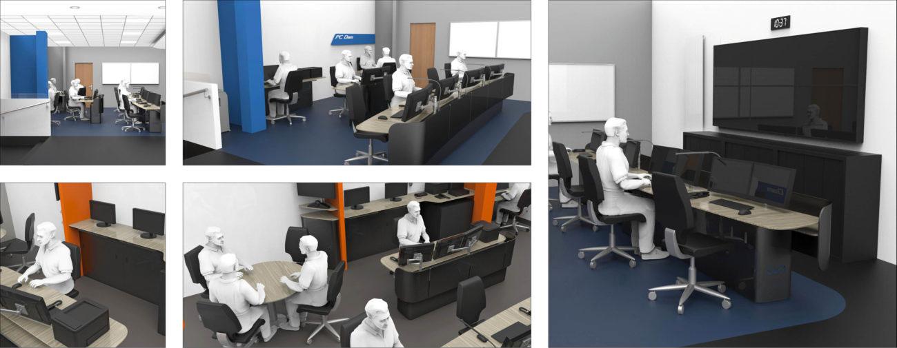 CEA, Ergonomie et aménagement de salles de contrôle, de salles de crise et d'espaces de travail - Axena Design