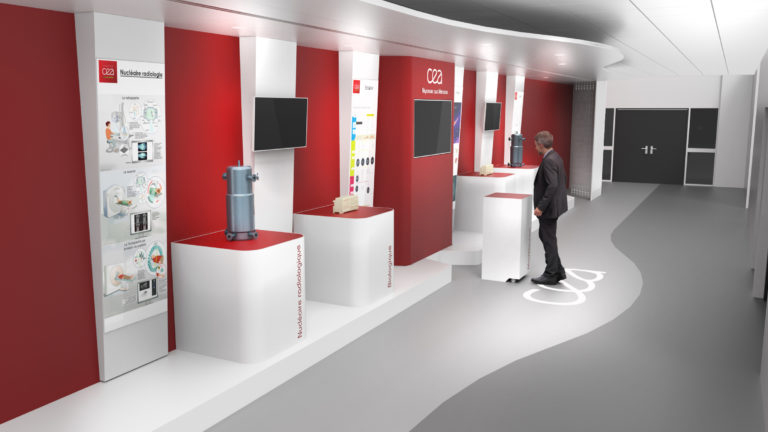 CEA, Création d'un espace d'accueil et de présentation des activités du site - Axena Ergonomie et Design d'espaces