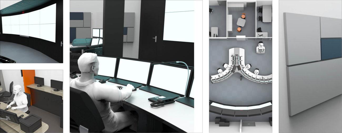 Dirif, Ergonomie et aménagement des 4 PC de surveillance routière du Périphérique Parisien et de l'A86 - Axena Ergonomie et Design d'espaces