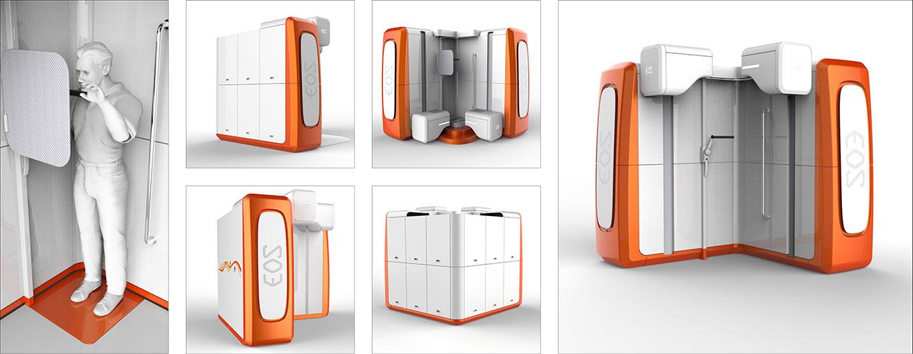 EOS Imaging, EOSedge™, Système innovant d'imagerie médicale orthopédique, Design Axena