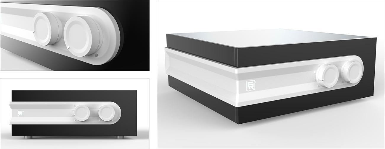 Electron Research, Amplificateur HIFI et Télécommande, Axena Design produits grand public